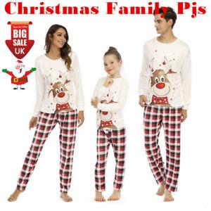 Christmas Family Matching Pyjamas Sleepwear PJs Set Festive Adult Baby Nightwear