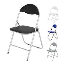 Klappstuhl Metall mit Lehne - 4 Farben - Besucherstuhl Gästestuhl Beistellstuhl
