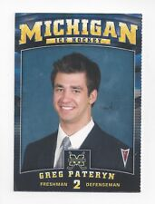 2008-09 Michigan Wolverines (CCHA) Greg Pateryn (Dallas Stars)