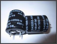 EPCOS ELKO radial Kondensator  68 µF 400 V 20x25mm ra.10  105°  2 Stück