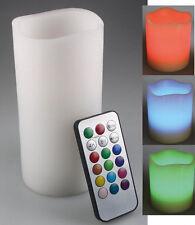 LED Echtwachs-Kerze RGB, ØxH 7,5x15cm Farbwechselfunktion, inkl. Fernbedienung