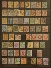 Collection of old Stamps/Postmarks BELGIUM on Hagner Page