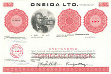 Oneida > vintage stock certificate share