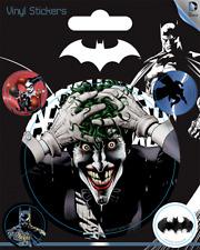 DC Batman Joker Vinyl Sticker - 1 sheet, 5 stickers
