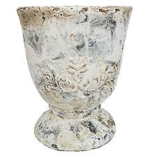 Pokal Shabby chic Pflanztopf 14x14x15,5 cm Topf Übertopf Shabby Zement Valo
