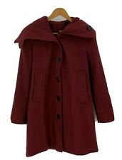 Asos Womens Coat Size 8 Burgundy Shawl Collar Peacoat Jacket Trench Wool G3