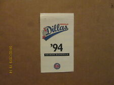 Tx-La League Amarillo Dillas Vintage Defunct 1994 Team Logo Pocket Schedule