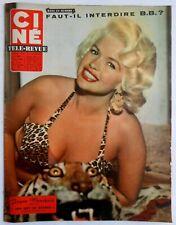 ►CINE REVUE 42/1959-JAYNE MANSFIELD-CURD JURGENS-JL TRINTIGNANT-BRIGITTE BARDOT