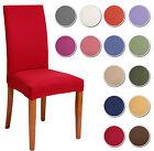 2 COPRISEDIA vesti sedia 2 pezzi TINTA UNITA MILLERIGHE 13 colori elasticizzato