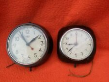 More details for two vintage bakelite wall clocks. smith sectric 1950s
