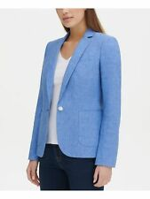 TOMMY HILFIGER $139 New 0056 Blue Heather Single Button...
