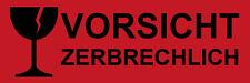 10 Aufkleber Etiketten für VORSICHT ZERBRECHLICH