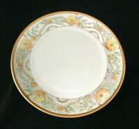 Thomas Bavaria Hand-Painted Plate Signed E.E. Patterson Lusterware Border Yellow