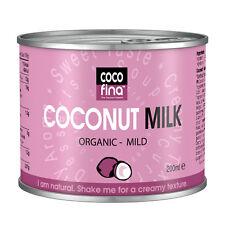 Cocofina Organic Coconut Milk 200 ml Pack of 6