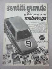 advertising pubblicita' MEBETOYS FIAT 126 ABARTH  -- 1974
