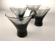 LOT Vintage Smoked Glass Mid Century Modern Barware Shot Glass Cocktail Tumbler