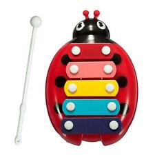 HOT Baby Child Kids 5-Note Xylophone Musical Toys Wisdom Development Beetle R UP