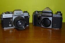 Vintage 35mm Film Camera x 2 - Ricoh Singlex II and a Praktica Mat