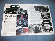 "1928 Ford Roadster Highboy Pickup Truck Article ""Dirt Devil"""