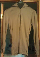 NEW Undershirt Brown Polyester Medium Cold Weather US MILITARY Issue LWCWUS