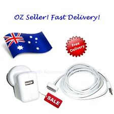 AC Wall Charger + 5M Data Sync Cable (for Apple iPhone, iPad & iPod)