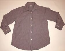 J. Crew Crewcuts Long Sleeve Button Up Shirt Boys L 6 7 Red White Blue Check