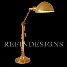 BRADLEY HUBBARD INDUSTRIAL ART DECO MACHINE AGE BRASS TABLE LAMP O C WHITE ERA