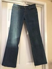Vintage BLUES HEROES DENIM Boot Cut Trouser Distressed Hem Flared Stretch JEANS