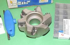 ISCAR 100mm Heavy Duty 75° Face Mill w/ AXKT Inserts (3M F75AX D100-6-32-20)