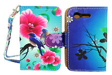 Lovely Birds Design Wallet Leather Case for LG Optimus Fuel L34C / Zone 2