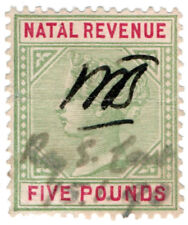 (I.B) Natal Revenue : Duty Stamp £5 (1898)