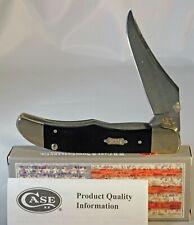 Case XX Black Canvas Kickstart Mid Folding Hunter/Clip Knife