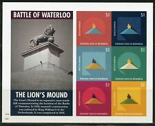 NEVER BEFORE OFFERED RARE MICRONESIA BATTLE OF WATERLOO SHT  IMPERFORATE MINT NH