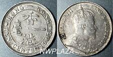 1903 HONG KONG SILVER KING EDWARD VII 10 CENT BETTER GRADE  DT717B