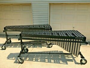 Musser 4.5 Octave Marimbas - Field Frame with Accessory Bar - Height Adjustable