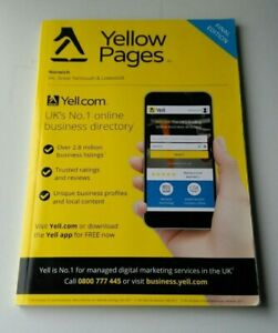 Yellow Pages Norwich Final Edition Phone Directory  New Great Yarmouth Lowestoft