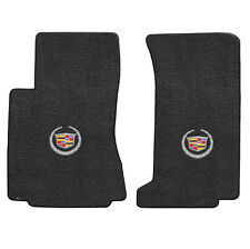 2009-12 Cadillac CTS-V Sedan Wagon Ebony Black Floor Mats - Wreath & Crest Logo