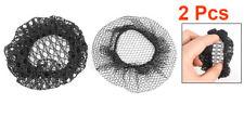 2Pcs Black Ballet Dance Skating Bun Cover Elastic Band Hair Nets For Wom K9 D3C6