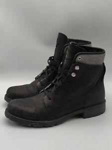 Merrell Women's Boots Black Leather Lace Up Biker Combat Size 10