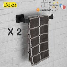 2 X porte serviette mural salle de bain Demi-Barre Acier Inox