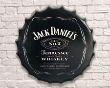 JACK DANIELS WHISKY Retro Vintage Wall Sign Tin Metal 30cm Bottle Top - FREE P+P