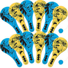 Batman Party Supplies Favours 12 Mini PADDLE BALL Favours Genuine Licensed