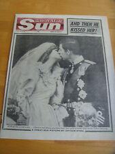 ORIGINAL VINTAGE 'ROYAL SUN' THURSDAY JULY 30th 1981 DIANA & CHARLES WEDDING