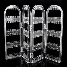 Transparent Foldable Earring Holder Necklace Stand Jewellery Display Organiser