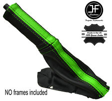 BLACK & GREEN STRIPE LEATHER E BRAKE BOOT & HANDLE COVER FITS DODGE VIPER 03-06