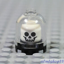 LEGO - Skull Classic White Display Brain Jar - Skeleton Minifigure Head Monster