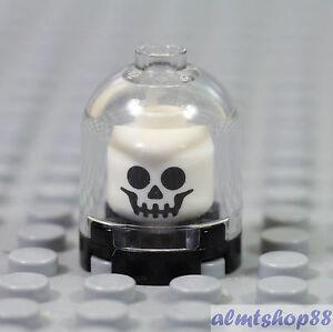LEGO - Skull Classic White Display Brain Jar - Skeleton Minifigure Head Monster