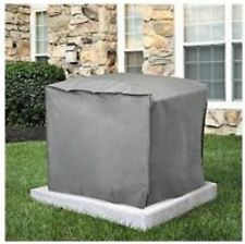 """SQUARE CENTRAL AIR CONDITIONER COVER 30"""" H x 34""""W x 34"""" D Gray"""