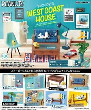 Re-Ment Miniature Peanuts Snoopy West Coast House Full set 8 pieces