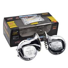 12V ABS Electric Dualtone Chrome 110dB Pickup Snail Horn Siren Loud Car Interior